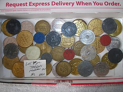 Vintage Lot Of 40 Token's Great Game,store,tax,business Advertising Token ,coin
