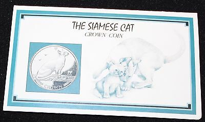 The 1992 Siamese Cat Crown Coin Uncirculated w / Presentation Folder