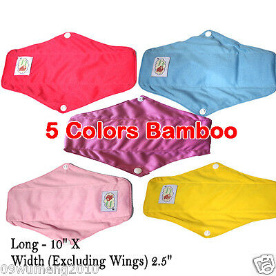 Bamboo MAMA Reusable Cloth MENSTRUAL SANITARY MATERNITY PADS Minky Cotton Dec