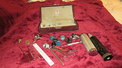 Vintage Welch Allyn Otoscope With Case And  More Medical Tools