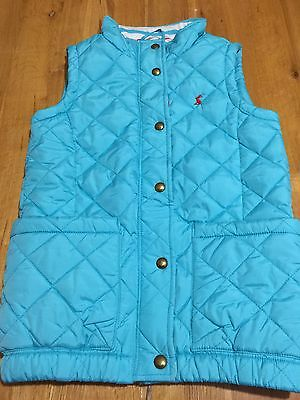 Amazing Joules Age 9-10 Girl Blue  Gilet/Body-warmer