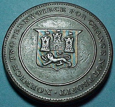 Token-Norwich Two Penny Piece-1811-For Change Not Profit-Rob Blake Cotton & Bomb