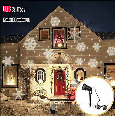 NEW Snowflake moving outdoor Sparkling LED Landscape Laser Projector Xmas Light