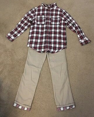 New Crazy8 By Gymboree Boys Size Medium (7-8) Long Sleeve Shirt And Pants