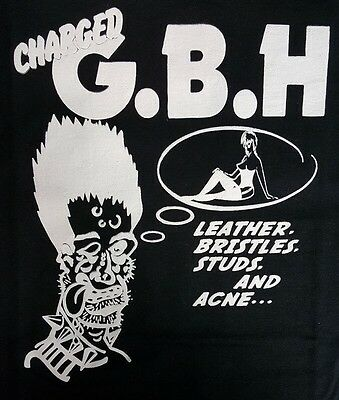 Gbh Leather Bristles Studs And Acne Black Canvas Back Patch