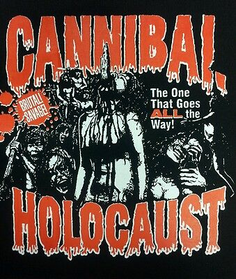 Cannibal Holocaust Cult Classic Horror Film Movie Black Canvas Back Patch