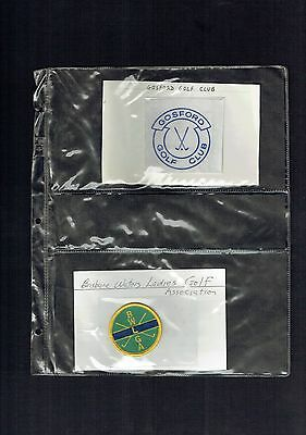 #dd.  Collection Of 18 Australian  Golf Cloth Patches