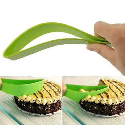 Cake Pie Slicer Sheet Guide Cutter Server Bread Slice Knife Kitchen Gadget Tool