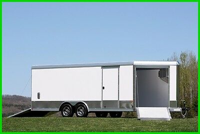 2017 25' Aluminum Utility Enclosed Cargo Trailer Toyhauler