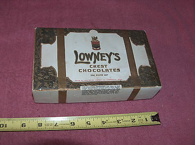 Vintage Lowney's Crest Chocolate Candy Box