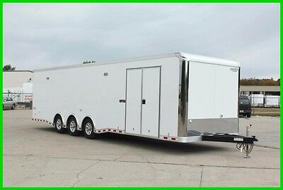 2017 32' ENCLOSED ALUMINUM RACE CAR ENCLOSED CARHAULER CARGO TRAILER New