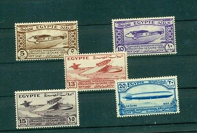 Egypt - Sc# 173-6. 1933 Aviation Congress. Mint LH. $81.50.
