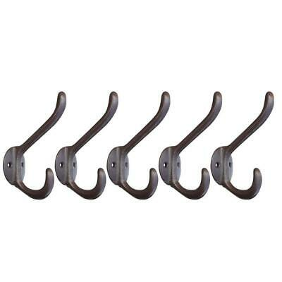 5 Pcs Vintage Style Rustic Cast Iron Wall Coat Hooks Hat Hook Hall Tree Hardware