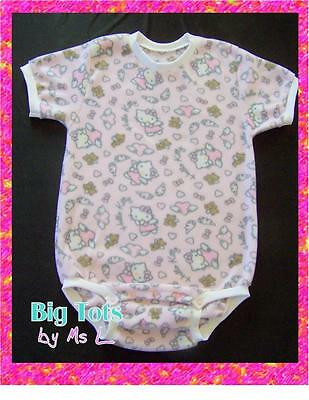 Adult Baby Angel Hello Kitty  Fleece onesuit   *Big Tots by MsL*