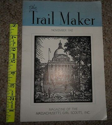 Rare Vintage WWII 1942 November Girl Scout TRAIL MAKER MAGAZINE