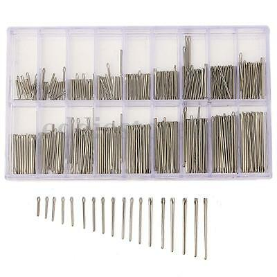 360PCS 8-25mm Stainless Steel Watch Strap Band Link Cotter Pins Spring Bar Tool