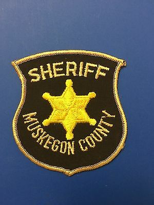 Muskegon County Michigan Sheriff  Shoulder Patch Used