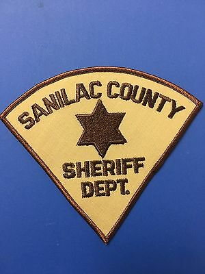 Sanilac  County Michigan Sheriff  Shoulder Patch Used