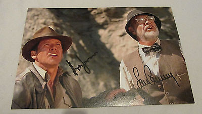 Signed Indian Jones and the Last Crusade 12x8! By harrison ford & sean connery