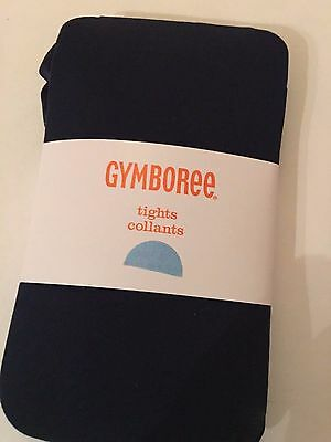 Gymboree Nwt Girls Solid Navy Blue Tights 5 6 Small New