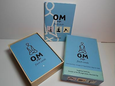 Om Yoga Flash Cards [With 32-Page Booklet] by Cyndi Lee