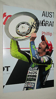 Signed Valentino Rossi 12X8 Photo! The Doctor 46!