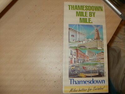Thamesdown Transport;24 page,fold-out,colour Bus Map/travel info guide;May 1994