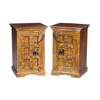 Silkroute NS212-1 Old Door Nightstand