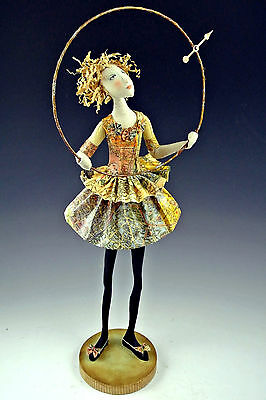 """*new* Cloth Art Doll E-Pattern Class """"finding Her True North"""" By Cindee Moyer"""