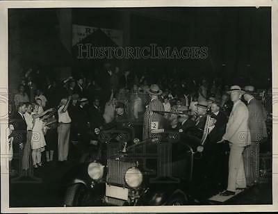 1928 Press Photo Presidential candidate Herbert Hoover in NJ campaign