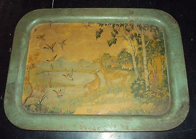 Vintage Advertisement Tin Tray Good Collectible