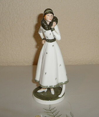 Vintage Porcelain Art Deco Figure of a Young Woman