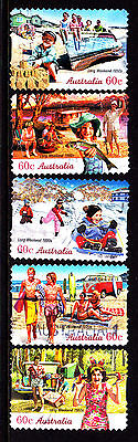 2010 Long Weekend - Complete Set of Used Booklet Stamps
