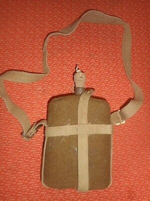 Great Britain Army : 1942 Wwii Water Canteen & Webbin Strap & Cover