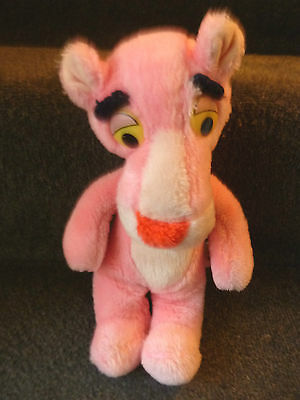 """Mighty Star Pink Panther 1980 11"""" Plush Toy"""