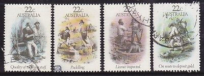 1981 Gold Rush - Complete Set of Used Stamps