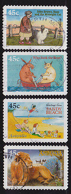 1996 Classic Childrens Books - Complete Set of  Used Booklet Stamps
