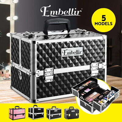 Professional Portable Beauty Case Makeup Case Cosmetics Box Carry Bag Organiser