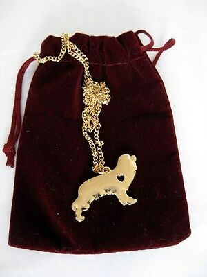 Cavalier King Charles Spaniel Dog Gold Tone Pendant & Fine Chain *price Lowered*