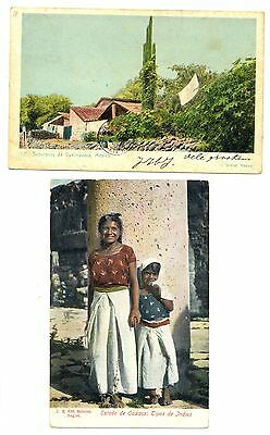 MEXICO  1905/1909   2 x PPC  TO HOLLAND   F/VF