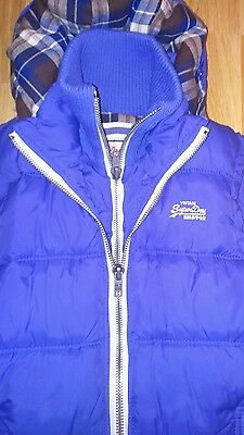 Worn Twice Superdry Bodywarmer Light Blue Size Small Man Excellent