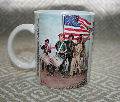 Boy Scouts of America Norman Rockwell The Spirit of 1976 Mug Brown & Bigalow Inc