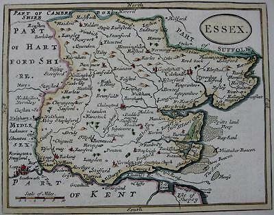ESSEX COLCHESTER  BY JOHN SELLER AND FRANCIS GROSE GENUINE ANTIQUE MAP  c1787