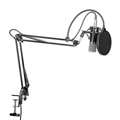 Professional Condenser Microphone Mic Studio Sound Recording w/ Arm Stand Set