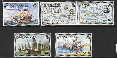 Anguilla Sg159/63 1973 Columbus Discovers The West Indies Mnh