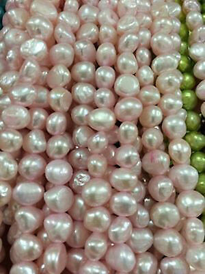 "5-6 mm Fashion Pink Baroque Freshwater Cultured Pearl Loose Beads 13"" 003"