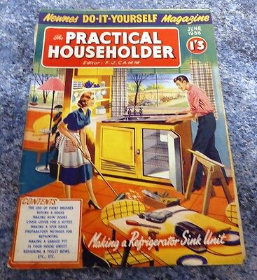 Practical Householder Magazine  June 1958 Excellent Condition Vintage