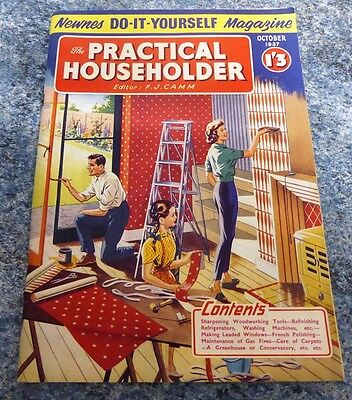 Practical Householder  Magazine  October 1957 Excellent Condition Vintage
