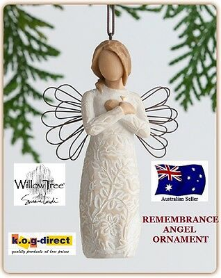 REMEMBRANCE ANGEL ORNAMENT Demdaco Willow Tree Figurine By Susan Lordi NEW