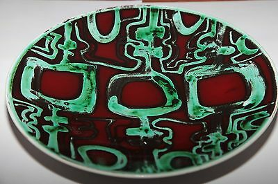 Superb Poole Pottery Delphis Charger Dish By Patricia Churchouse - 1960's Size 4